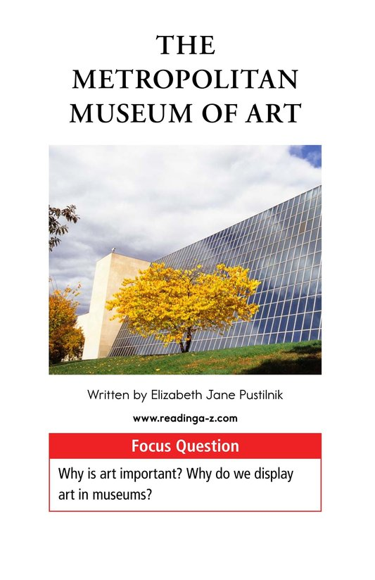 Book Preview For The Metropolitan Museum of Art Page 1