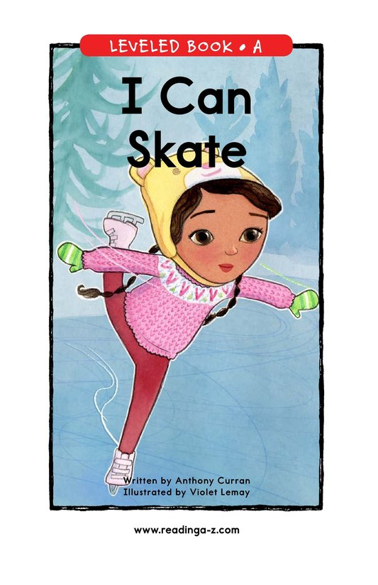 Book Preview For I Can Skate Page 0