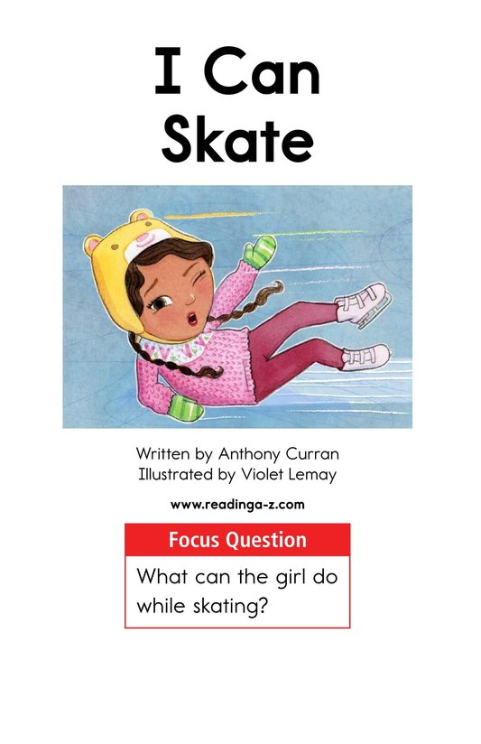 Book Preview For I Can Skate Page 1