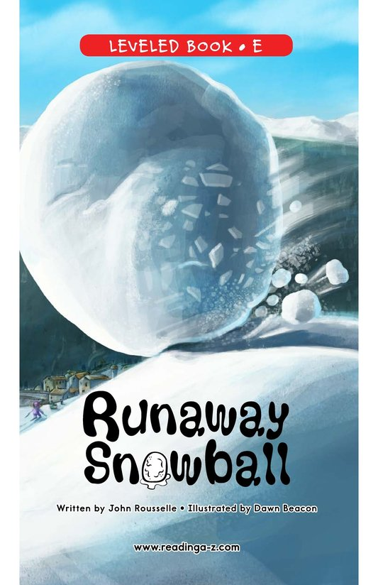 Book Preview For Runaway Snowball Page 0