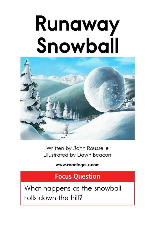 Book Preview For Runaway Snowball Page 1