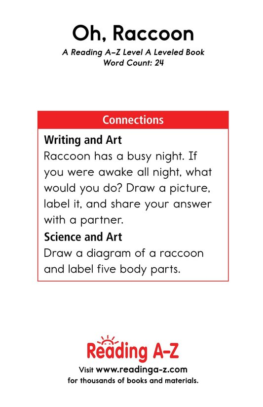 Book Preview For Oh, Raccoon Page 11