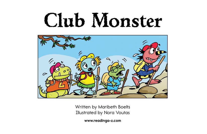 Book Preview For Club Monster Page 2