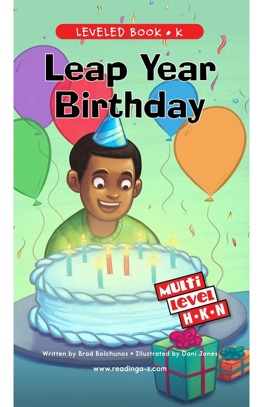 Book Preview For Leap Year Birthday Page 0