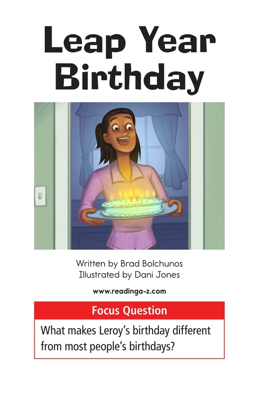 Book Preview For Leap Year Birthday Page 1