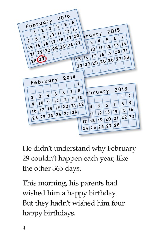 Book Preview For Leap Year Birthday Page 4
