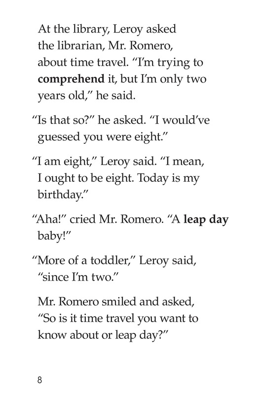 Book Preview For Leap Year Birthday Page 8
