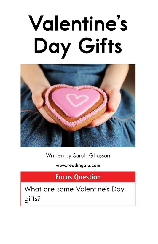 Book Preview For Valentine's Day Gifts Page 1