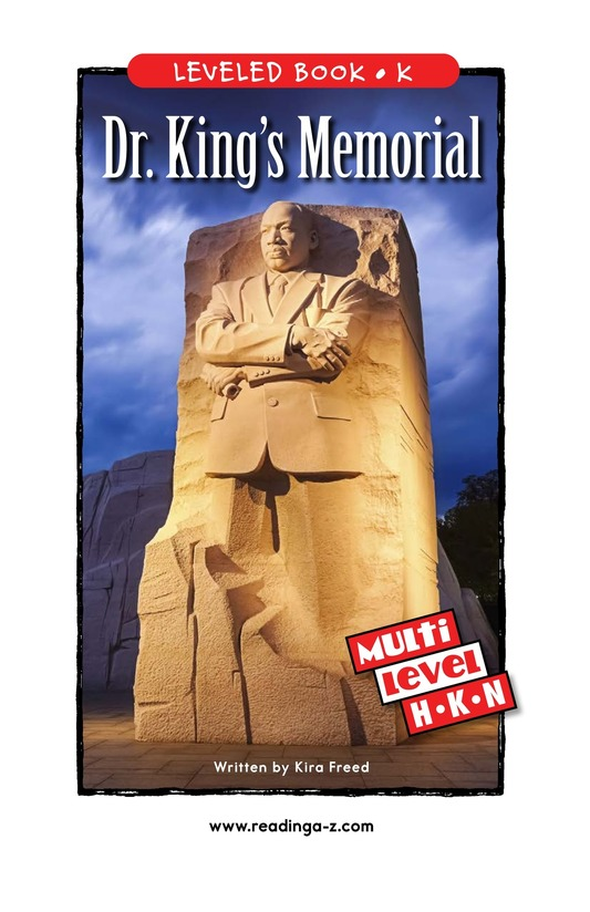 Book Preview For Dr. King's Memorial Page 0