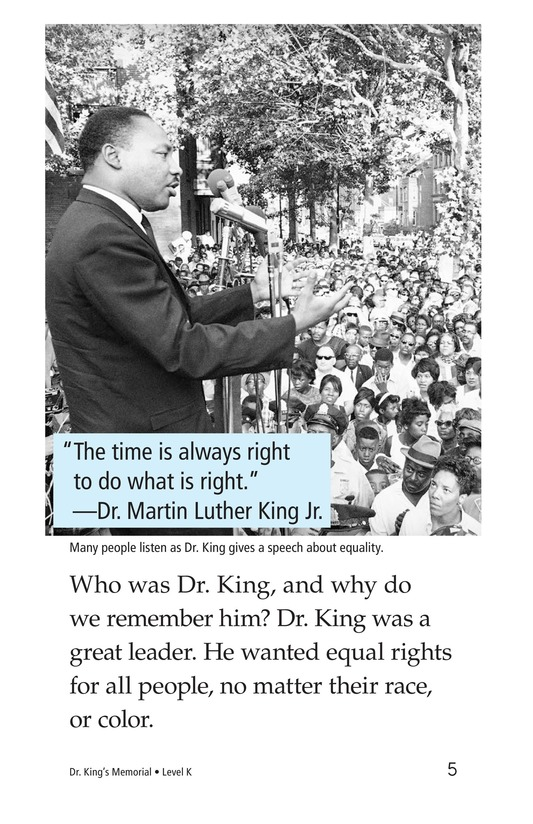 Book Preview For Dr. King's Memorial Page 5