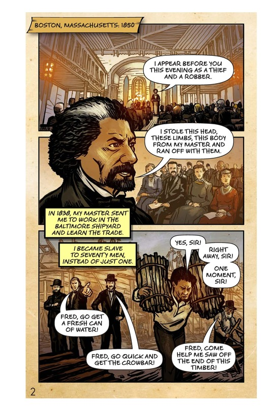 Book Preview For Frederick Douglass: Escape to Freedom Page 3