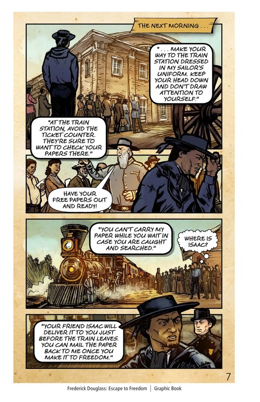 Book Preview For Frederick Douglass: Escape to Freedom Page 8