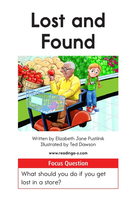 Book Preview For Lost and Found Page 1