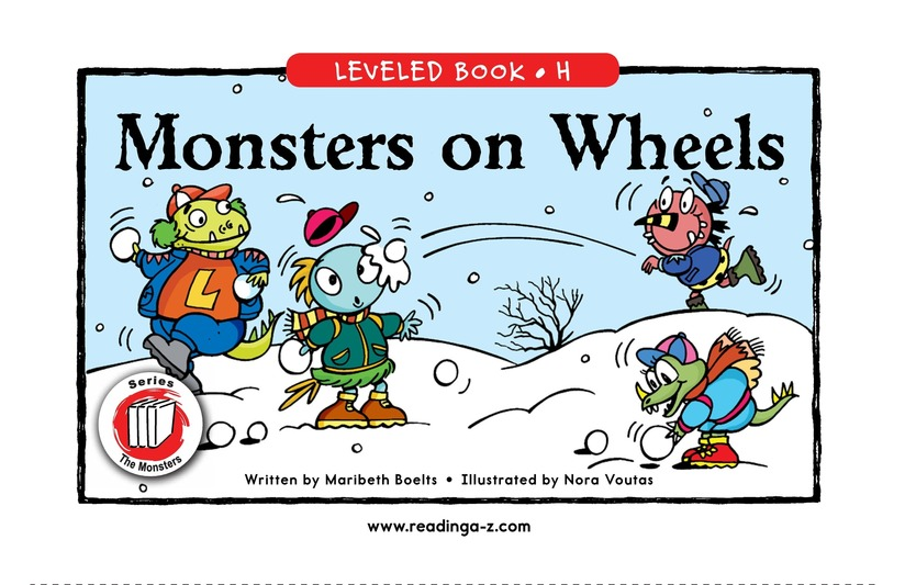 Book Preview For Monsters on Wheels Page 1