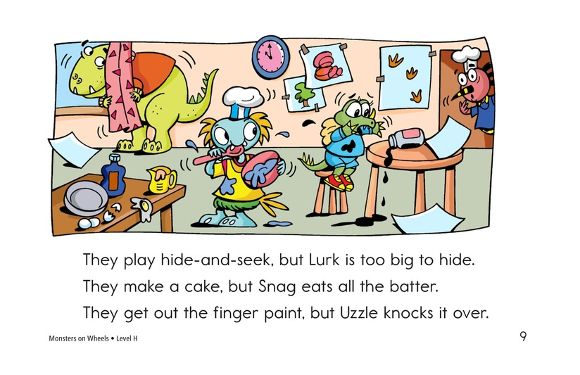 Book Preview For Monsters on Wheels Page 9