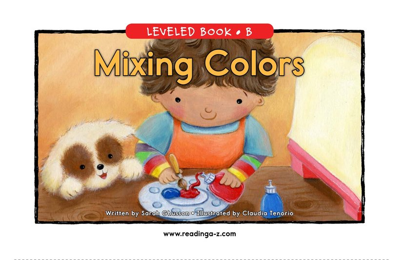 Book Preview For Mixing Colors Page 0
