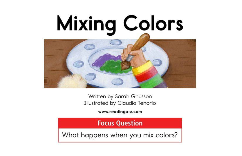 Book Preview For Mixing Colors Page 1