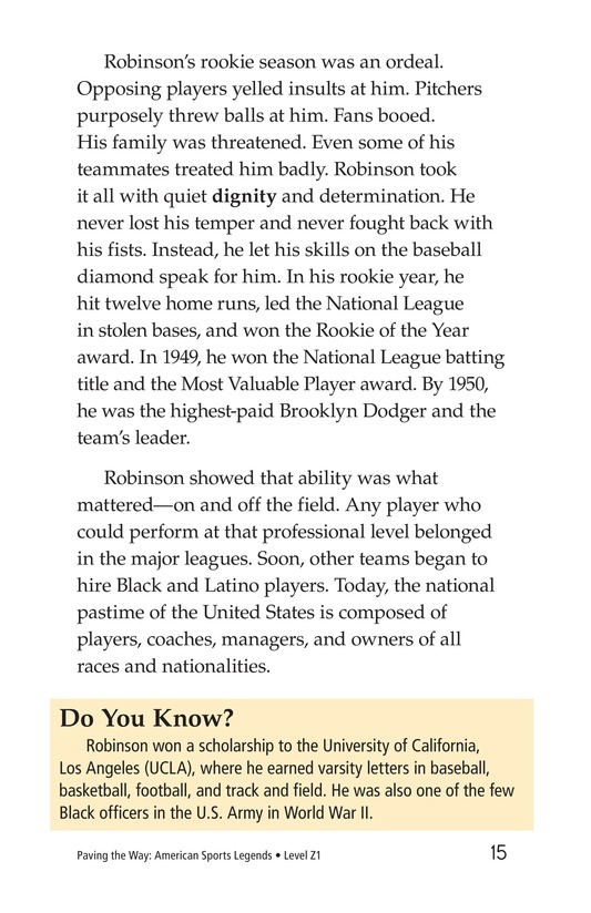 Book Preview For American Sports Legends Page 15