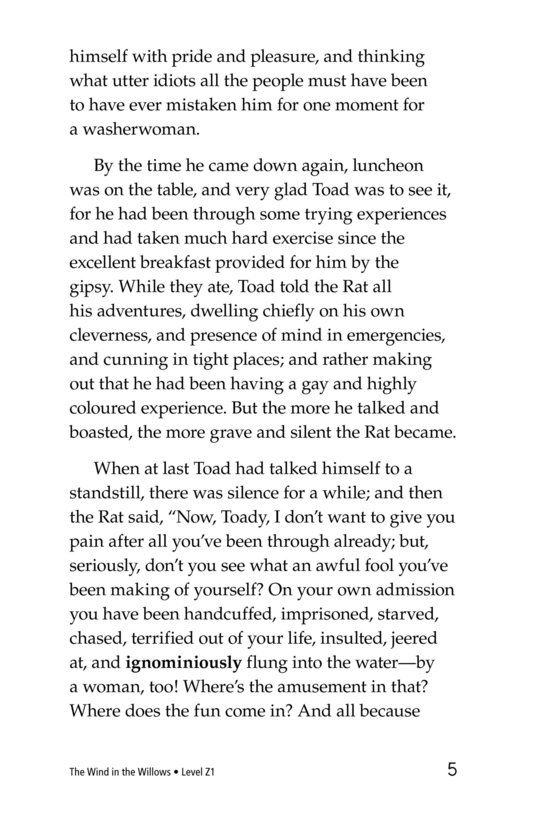 Book Preview For The Wind in the Willows (Part 13) Page 5