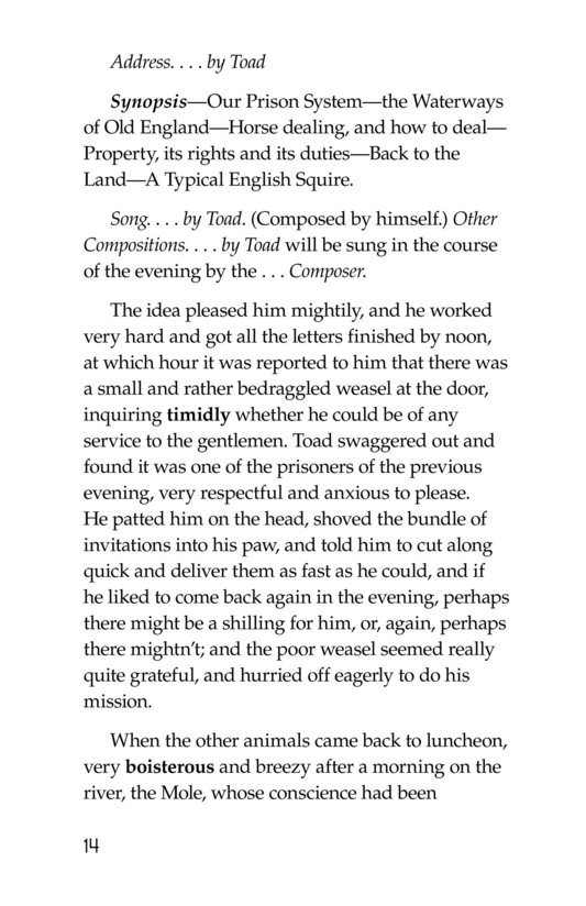 Book Preview For The Wind in the Willows (Part 15) Page 14