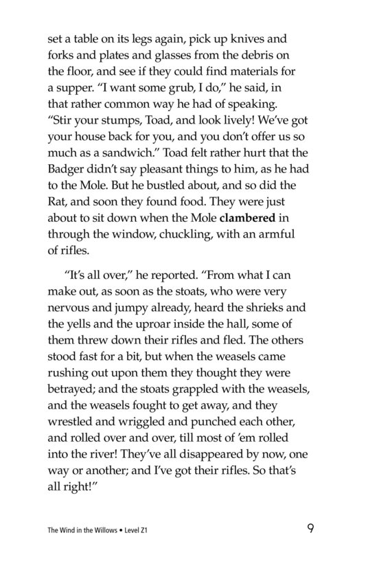 Book Preview For The Wind in the Willows (Part 15) Page 9