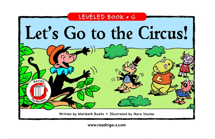 Book Preview For Let's Go to the Circus! Page 1
