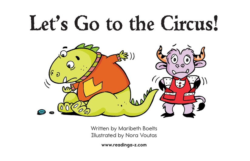 Book Preview For Let's Go to the Circus! Page 2
