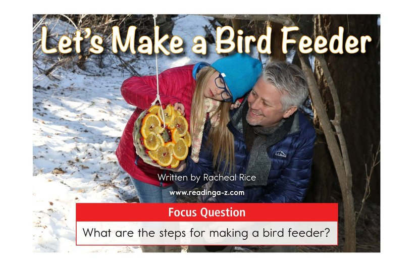 Book Preview For Let's Make a Bird Feeder Page 1