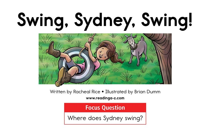 Book Preview For Swing, Sydney, Swing! Page 1