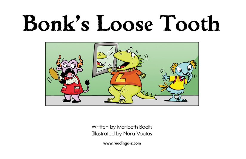 Book Preview For Bonk's Loose Tooth Page 2