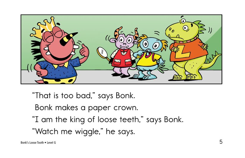 Book Preview For Bonk's Loose Tooth Page 5