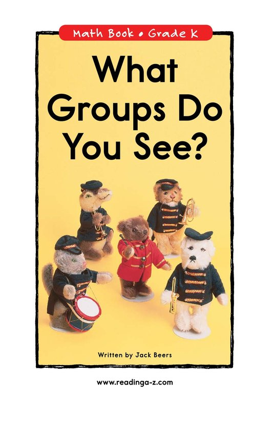 Book Preview For What Groups Do You See? Page 0
