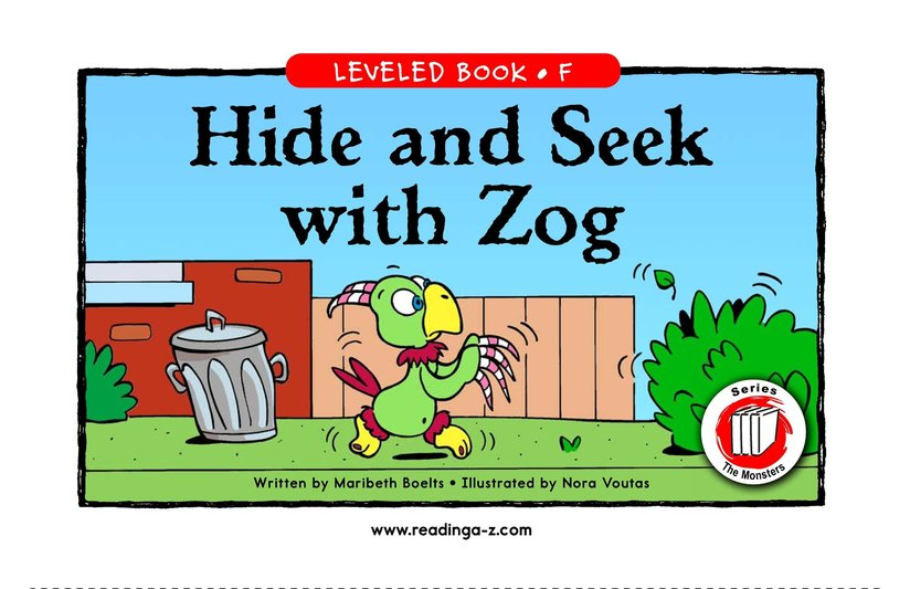 Book Preview For Hide and Seek with Zog Page 1