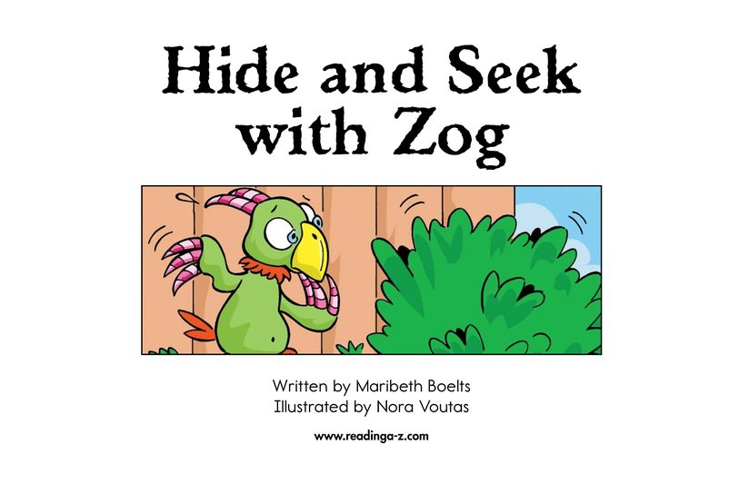 Book Preview For Hide and Seek with Zog Page 2