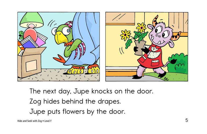 Book Preview For Hide and Seek with Zog Page 5
