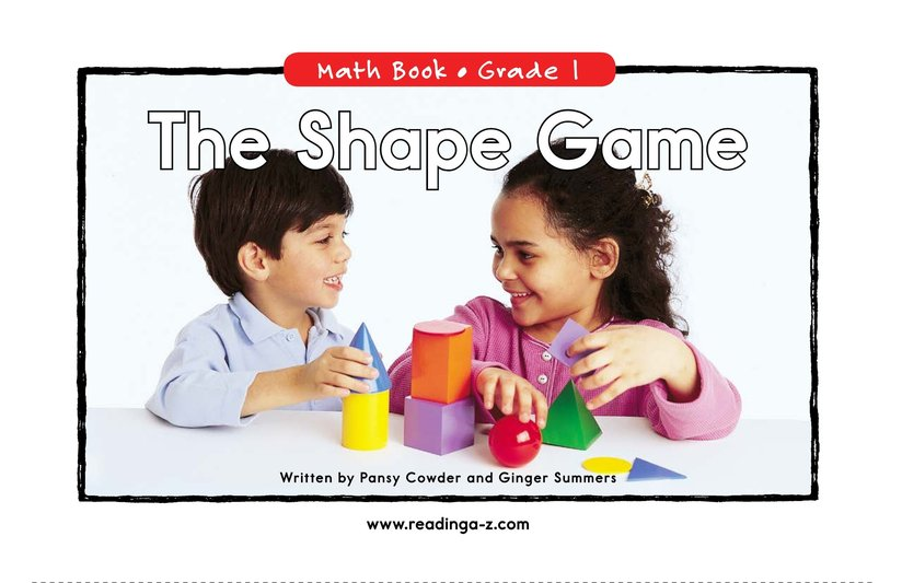 Book Preview For The Shape Game Page 0