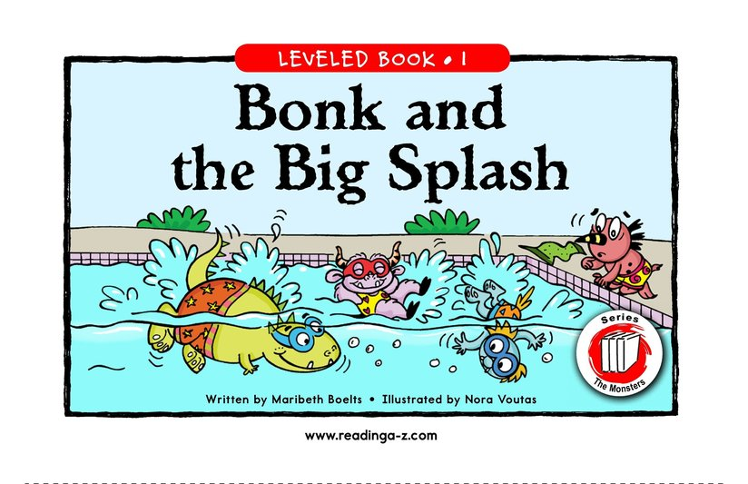 Book Preview For Bonk and the Big Splash Page 1