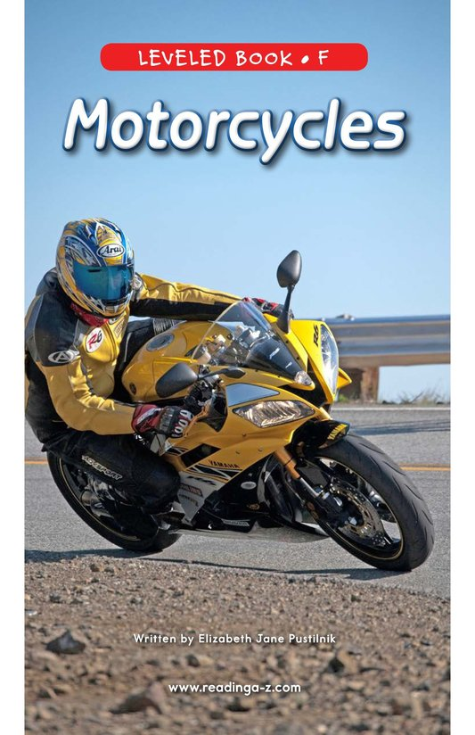Book Preview For Motorcycles Page 0