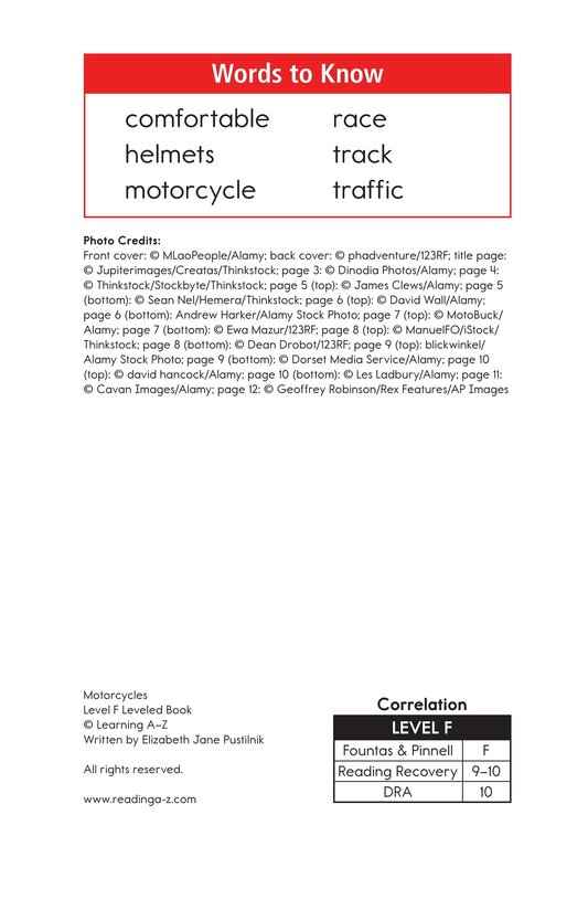 Book Preview For Motorcycles Page 2