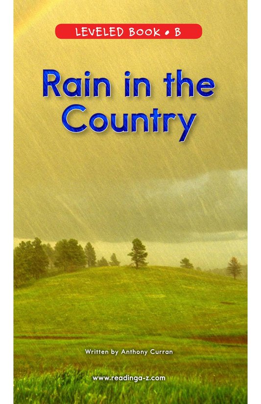 Book Preview For Rain in the Country Page 0