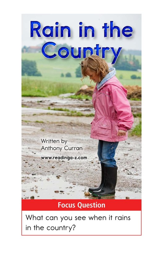 Book Preview For Rain in the Country Page 1