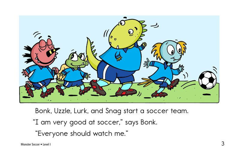 Book Preview For Monster Soccer Page 3