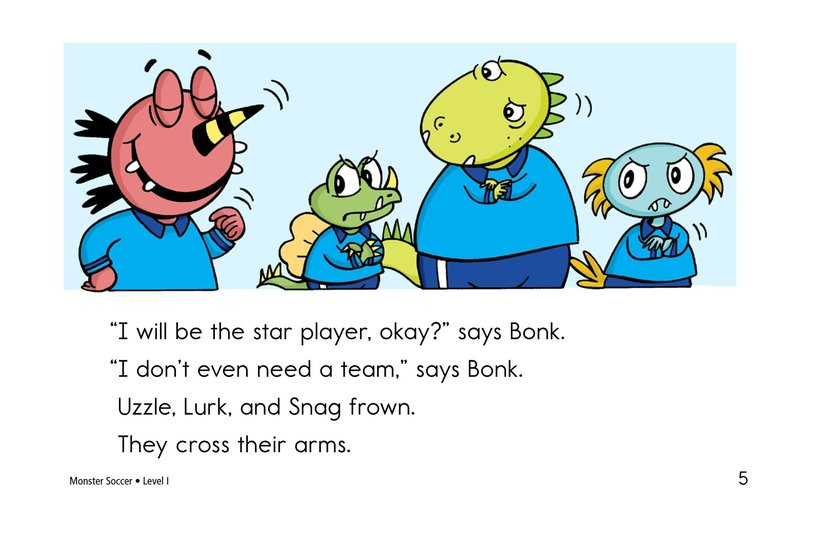 Book Preview For Monster Soccer Page 5