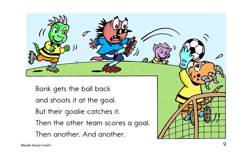 Book Preview For Monster Soccer Page 9