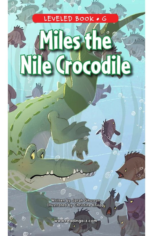 Book Preview For Miles the Nile Crocodile Page 0