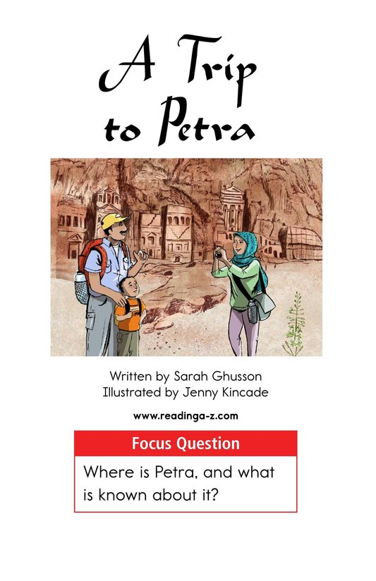 Book Preview For A Trip to Petra Page 1