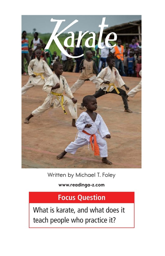 Book Preview For Karate Page 1