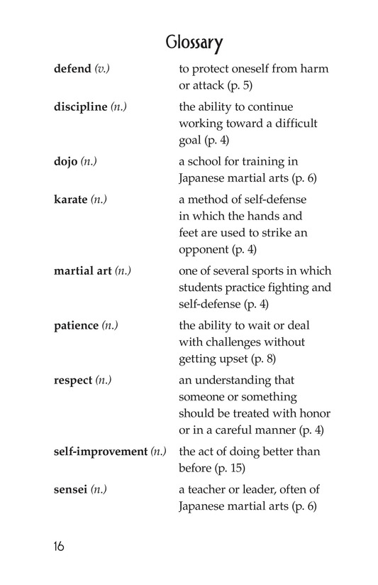 Book Preview For Karate Page 16