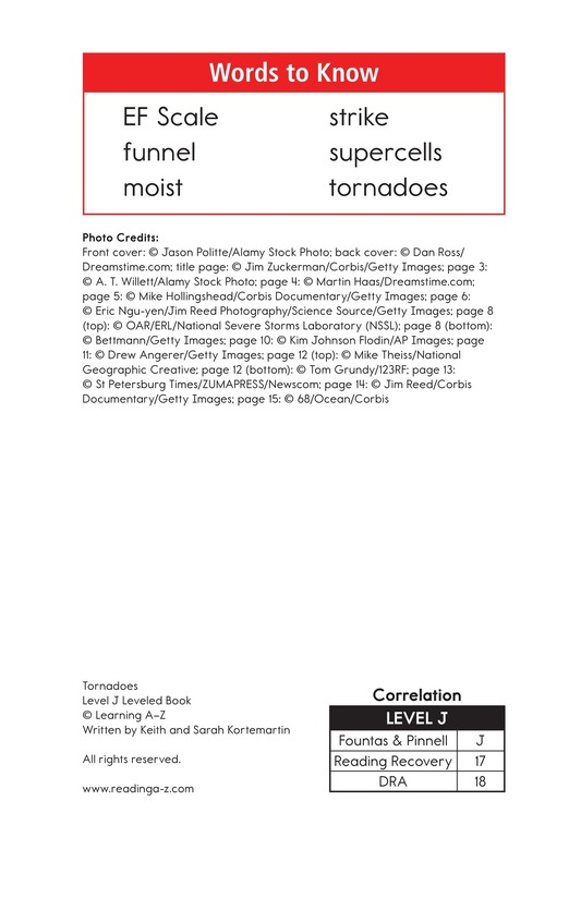 Book Preview For Tornadoes Page 2