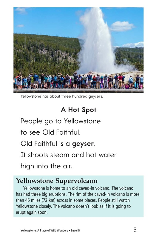 Book Preview For Yellowstone: A Place of Wild Wonders Page 5